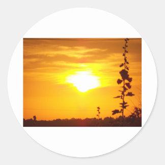 Lincolnshire Sunrise 3 Classic Round Sticker