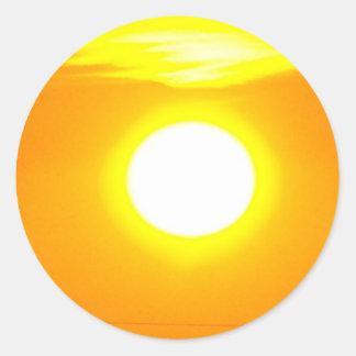 Lincolnshire Sunrise 4 Classic Round Sticker