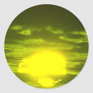 Lincolnshire Sunrise 7 Classic Round Sticker