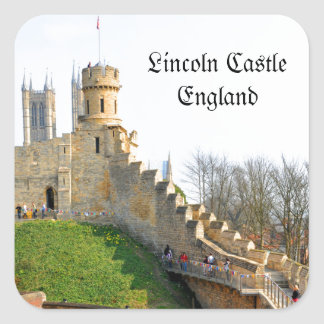 Lincon castle square sticker