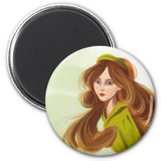 Linda Round Magnet