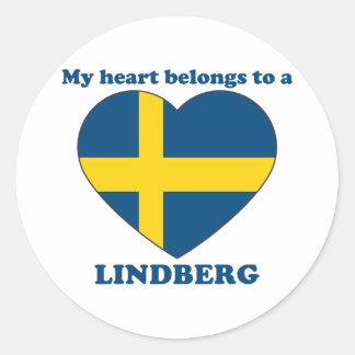 Lindberg Round Sticker