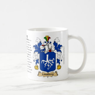 Lindberg, the Origin, the Meaning and the Crest Basic White Mug