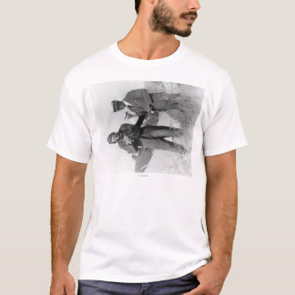 Lindbergh and Wright with Wrecked Plane T-Shirt