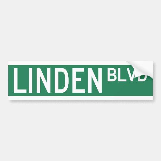 Linden Boulevard Sign Bumper Sticker