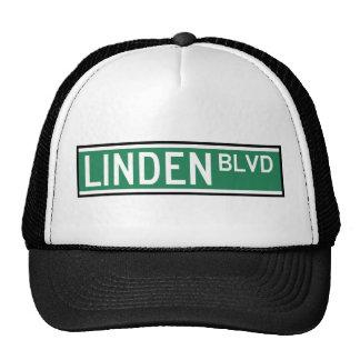 Linden Boulevard Sign Trucker Hats