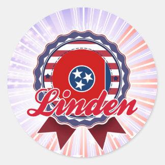 Linden TN Round Stickers
