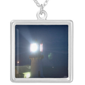 lindesnes fyr, norways most southern point 2 silver plated necklace