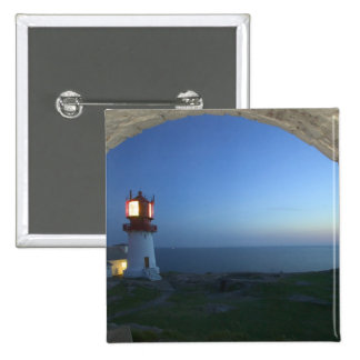 lindesnes fyr, norways most southern point 15 cm square badge