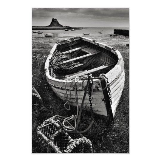 Lindisfarne Castle & Old Boat - Holy Island
