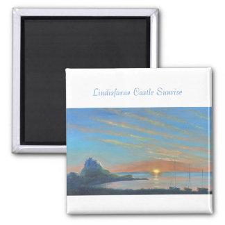 Lindisfarne Castle Sunrise Magnet