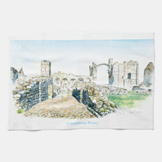 Lindisfarne Priory Tea Towel