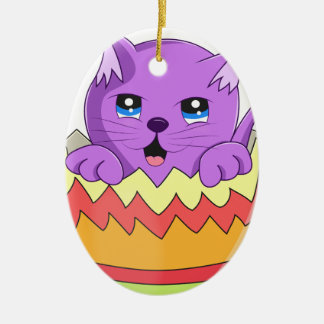 Lindo Gatito color Violeta Christmas Ornament