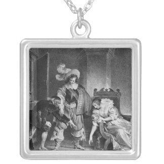 Lindor's letter silver plated necklace