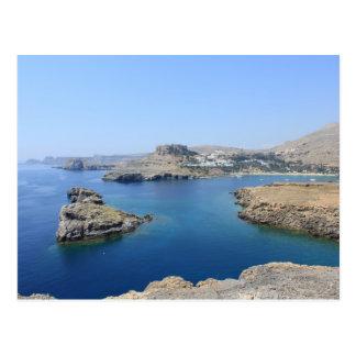 Lindos Acropolis Postcard