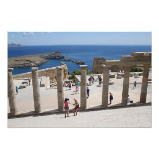 Lindos Acropolis Poster