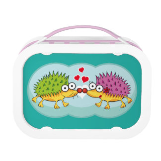 Lindos erizos enamorados. Erizo, Hedgehog. Lunch Box