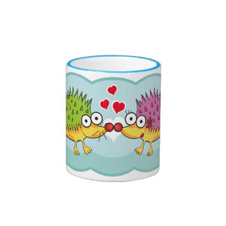 Lindos erizos enamorados. Erizo, Hedgehog. Ringer Mug