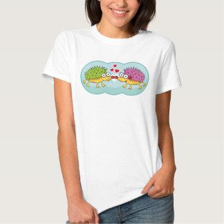 Lindos erizos enamorados. Erizo, Hedgehog. T Shirt