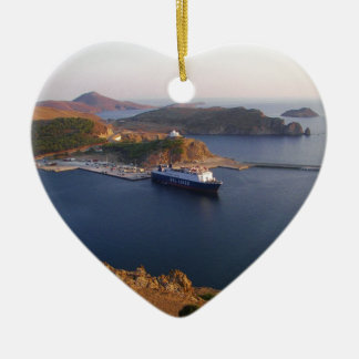 Lindos Ferry. Christmas Ornament