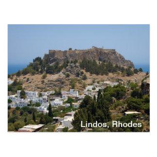 Lindos, Rhodes Postcard
