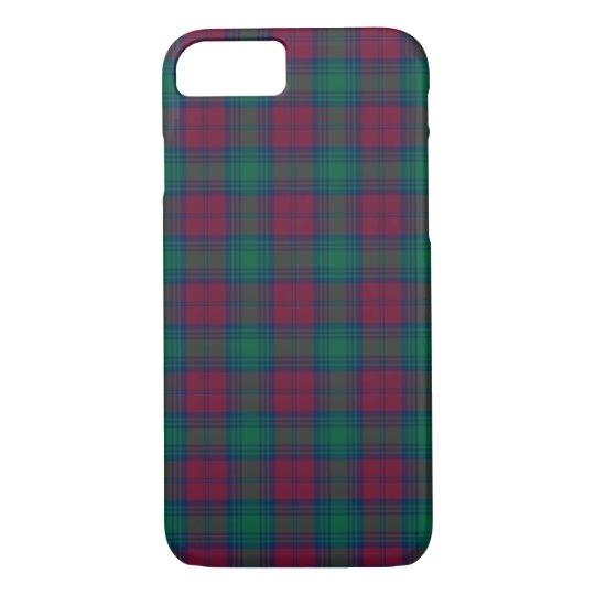 Lindsay Clan Maroon and Green Tartan iPhone 8/7