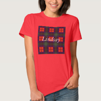 Lindsay clan Plaid Scottish tartan Tee Shirts