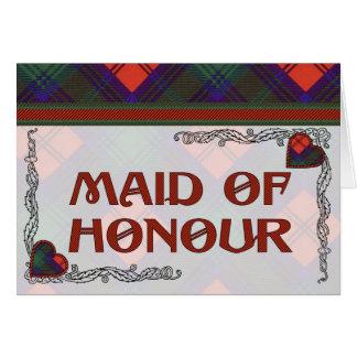 Lindsay Scottish Tartan Hearts Design Greeting Card