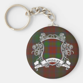 Lindsay Tartan Shield Key Ring