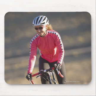 Lindsey Bishop road biking, Boulder, Colorado. Mouse Mat