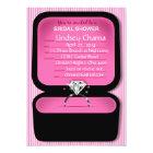 Lindsey Bling Ring Box Bridal Shower pink Card