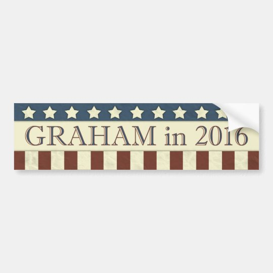 Lindsey Graham President in 2016 Bumper Sticker