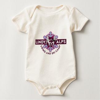 Lindy Alps Swing Dance Camp Logo Baby Bodysuit