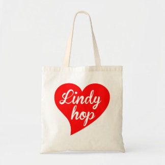 Lindy Hop Big Heart Tote Bag