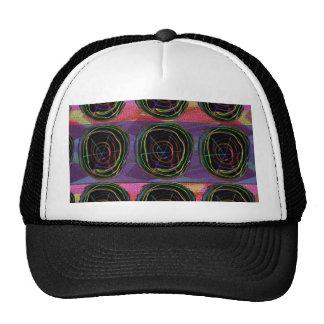Line Art Circles Round Spark Abstract Elegant Gift Trucker Hat