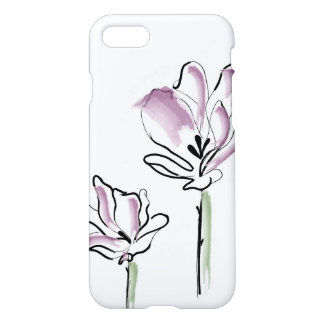 Line art flower iPhone 8/7 case