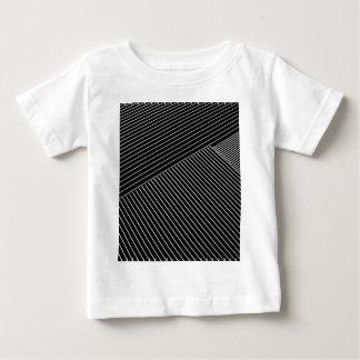 Line art - geometric illusion, abstract stripes bw baby T-Shirt