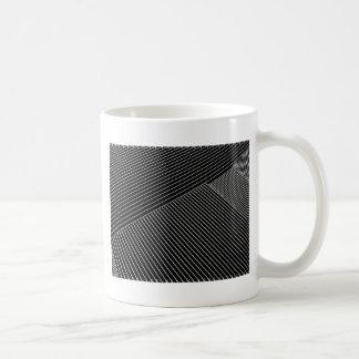 Line art - geometric illusion, abstract stripes bw coffee mug