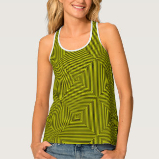 Line Art - geometric illusion, abstraction pattern Tank Top