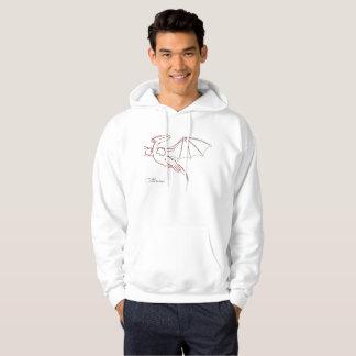 Line Art - Hooded Sweatshirt - Mafai the Dragon