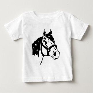 line art horse baby T-Shirt