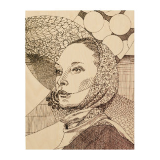 Line Art illustration of to lady with scarf