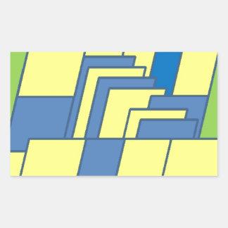 Line Art Illustration Rectangular Sticker
