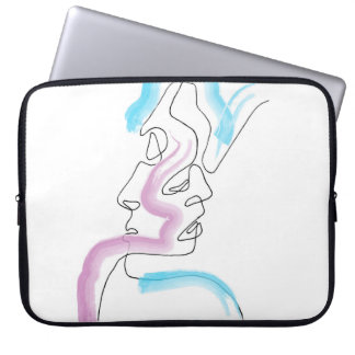 Line art love laptop sleeve