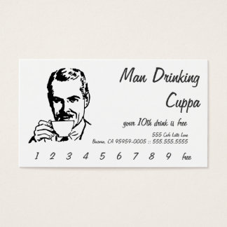 Line Art Morning Cuppa Business Card