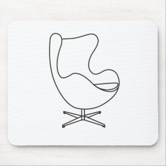Line art of Egg-chair. Mouse Mat