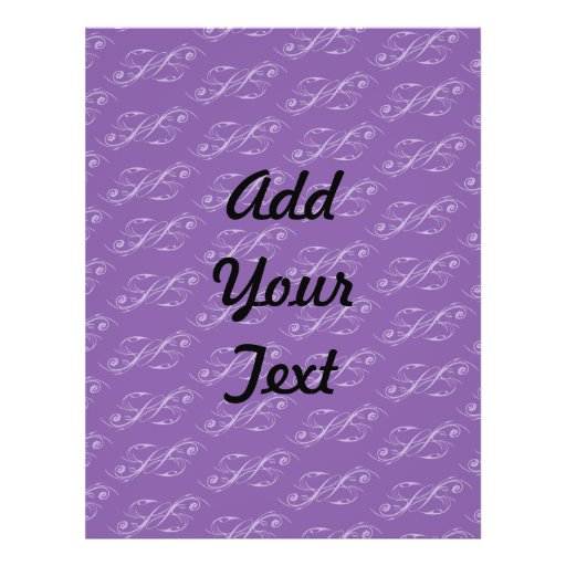Line Artwork pattern purples Custom Flyer