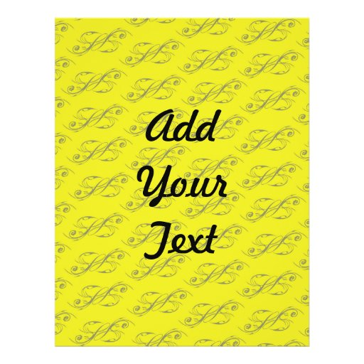 Line Artwork pattern yellow Flyer