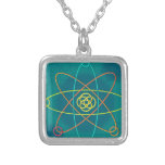 Line Atomic Structure Personalised Necklace
