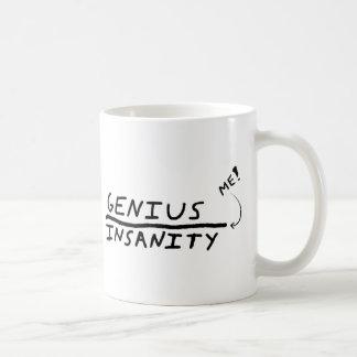 Line between Genius and Insanity Coffee Mug